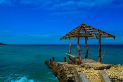 An abandoned jetty of the beautiful Camotes Island, Philippines Royalty Free Stock Image