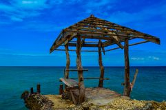 An abandoned jetty of the beautiful Camotes Island, Philippines Royalty Free Stock Photo