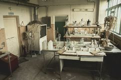 Abandoned laboratory. Russia. Royalty Free Stock Image