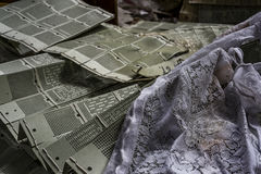 Abandoned Lace Factory - Scranton, Pennsylvania. An interior view of lace in the abandoned Scranton Lace factory in Scranton, Pennsylvania Stock Photography