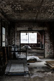 Abandoned Lace Factory - Scranton, Pennsylvania. An interior view of the abandoned Scranton Lace factory in Scranton, Pennsylvania Stock Images