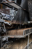 Abandoned Lace Factory - Scranton, Pennsylvania. An interior view of lace on a loom in the abandoned Scranton Lace factory in Scranton, Pennsylvania Royalty Free Stock Images