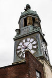 Abandoned Lace Factory and Tower - Scranton, Pennsylvania. An exterior view of the clock tower and factory of the abandoned Scranton Lace factory in Scranton Stock Photography