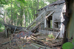 An Abandoned Lake Cottage Royalty Free Stock Photography
