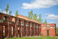 Abandoned landmark, brick walls Royalty Free Stock Image