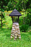 Abandoned lantern. In the garden Royalty Free Stock Image