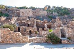 Abandoned leper colony. Spinalonga Fortress, Crete Greece Stock Photography