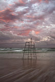 Abandoned Lifeguard Chair Royalty Free Stock Images