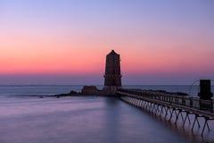 Abandoned Lighthouse in Alexandria Stock Photo