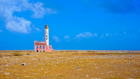 Abandoned lighthouse. In Curaçao stock photo