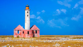 Abandoned lighthouse. In Curaçao royalty free stock photo