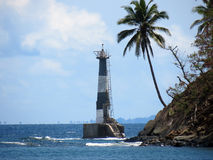 Abandoned lighthouse. A lighthouse damaged by 2004 Indian ocean earthquake and tsunami at Ross Island, Port Blair, Andaman and Nicobar Islands, India, Asia Stock Photos