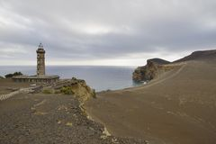 Abandoned lighthouse,  Faial island, Azores, Portugal Stock Image