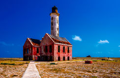Abandoned lighthouse. On Klein Curacao Stock Image