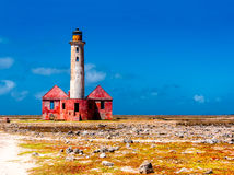 Abandoned lighthouse. On Klein Curacao Stock Images