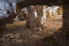 Abandoned limestone adit Stock Image