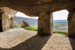 Abandoned limestone mines, Old Orhei, Moldova Royalty Free Stock Photos