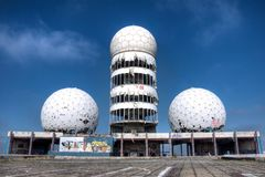 Abandoned listening station Teufelsberg Royalty Free Stock Photo