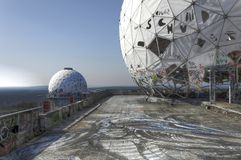 Abandoned listening station Teufelsberg Royalty Free Stock Image