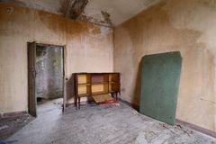 Abandoned living room Royalty Free Stock Photography