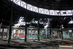 Abandoned locomotive depot in Berlin Stock Image