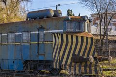 Abandoned train locomotive Stock Photography