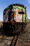 Abandoned Locomotive - Train - Ohio. An abandoned locomotive / train in a railroad yard in Ohio royalty free stock image