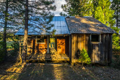 Abandoned Loggers Cabin, Northern California Stock Photos