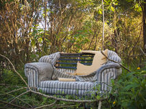 Abandoned loveseat Royalty Free Stock Image
