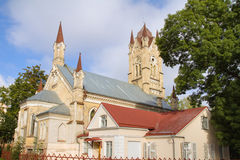 Abandoned Lutheran church in Grodno, Belarus Stock Image