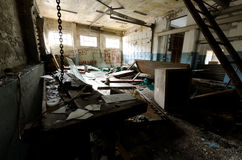 Abandoned machine shop in Greenland Royalty Free Stock Photos