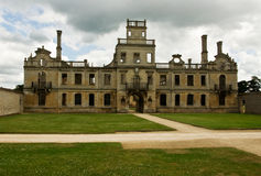 Abandoned mansion. Kirby Hall, a huge Elizabethan mansion which is partly restored and partly derelict royalty free stock photo