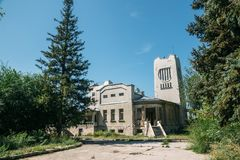 Abandoned mansion of Golovkin in modern style in Samara.  royalty free stock images