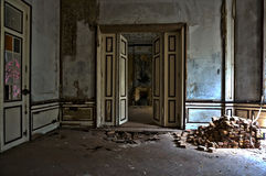 The abandoned mansion room Stock Photos