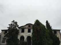 Abandoned mansion. Salem winter island Stock Images