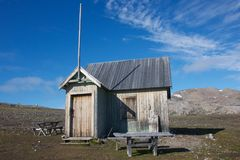 The Abandoned Marble Mining Facility in Svalbard Royalty Free Stock Photography