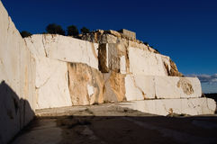 Abandoned marble quarry Royalty Free Stock Photography