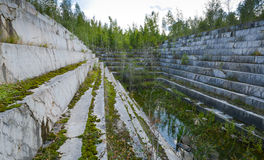 Abandoned marble quarry Royalty Free Stock Photos