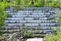 Abandoned marble quarry Stock Photo
