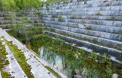 Abandoned marble quarry Royalty Free Stock Images
