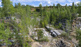 Abandoned marble quarry Stock Image