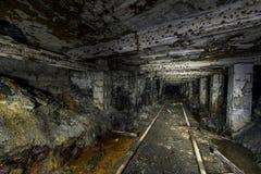 Abandoned Mathias Coal Mine - Pennsylvania. Inside the abandoned Mathias coal mine in rural southwest Pennsylvania. It has been closed since 1992 stock photo