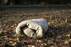 Abandoned Mattress. A mattress in a bed of leaves Stock Photo