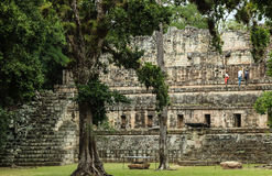 Abandoned Mayan temples, Copan, Honduras. Abandoned temples in the Mayan ruins of Copan, an archaeological site in Honduras and a UNESCO World Heritage Site stock photography