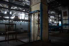 Abandoned meat processing plant slaughterhouse Rosenau, Kaliningrad, Konigsberg.  stock photo