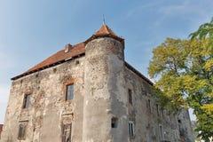 Abandoned medieval castle Saint Miklosh, Chinadievo, Western Ukraine. Royalty Free Stock Image