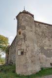 Abandoned medieval castle Saint Miklosh, Chinadievo, Western Ukraine. Royalty Free Stock Photography
