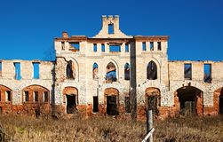 Abandoned medieval manor Royalty Free Stock Image