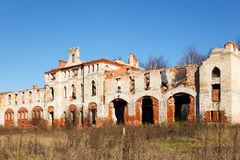 Abandoned medieval manor in autumn Stock Image