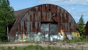 Abandoned metal hangar